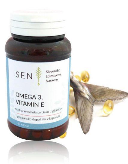 Omega 3 z vitaminom E, za srce in ožilje